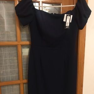 Navy Betsy Adam new with tags dress size 12